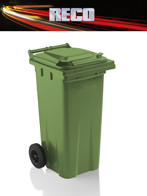 Green 120 Litre Wheelie Bins