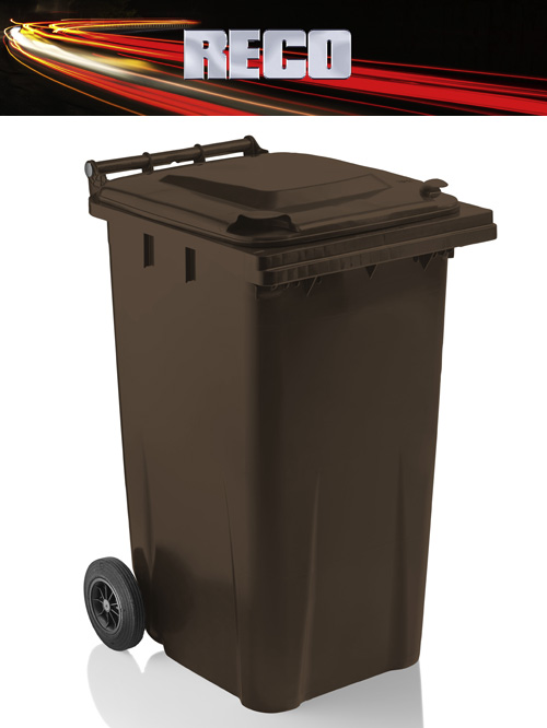 Brown 240 Litre Wheelie Bins