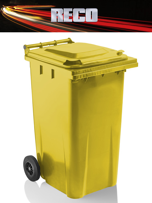 Yellow 240 Litre Wheelie Bins