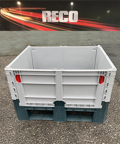 Used Collapsible Dolav Plastic Pallet Box