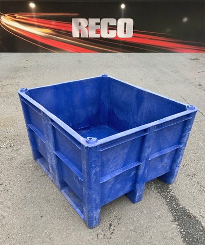 Used Dolav Plastic Pallet Boxes Blue