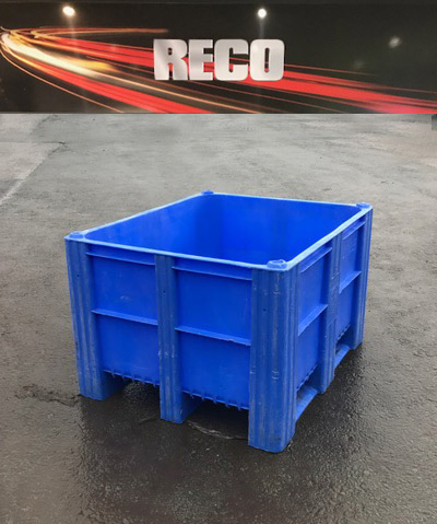 Used Dolav Style Plastic Pallet Boxes Blue