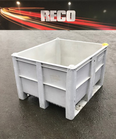 Used Dolav Style Plastic Pallet Boxes Grey