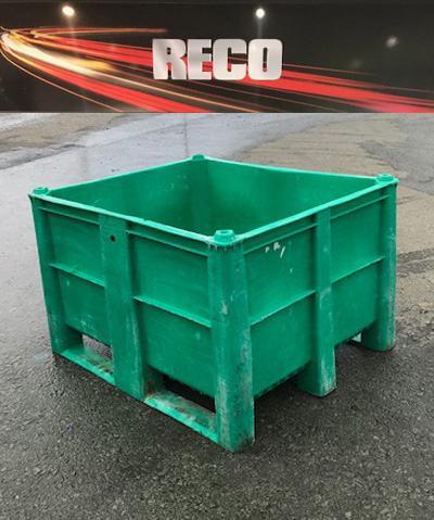 Used Dolav Style Plastic Pallet Boxes Green