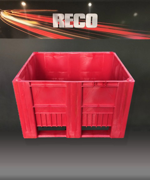 New Red Plastic Pallet Boxes