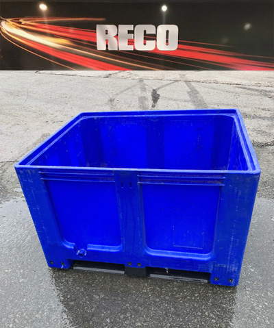 Used Plastic Pallet Boxes Blue