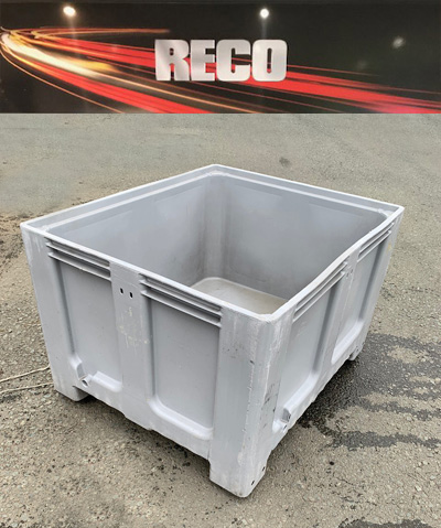 Used Plastic Pallet Boxes Grey