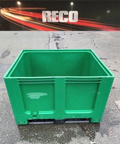 Used Plastic Pallet Box Green