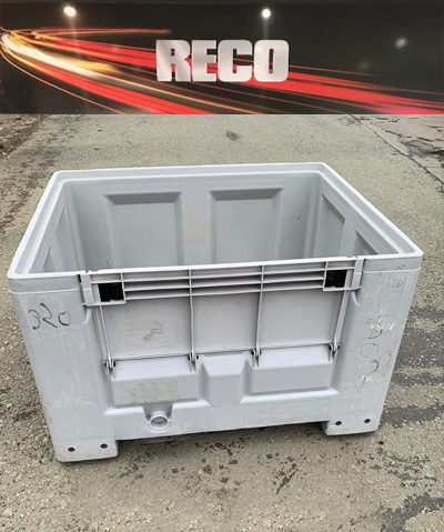 Used Plastic Box Pallets with Half Drop Gate