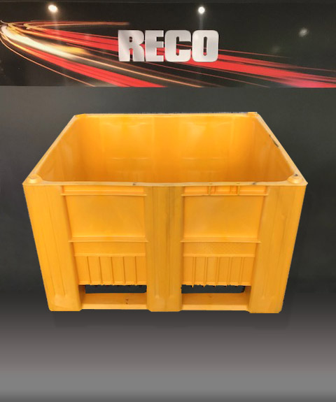 New Heavy Duty Plastic Pallets Boxes CB3 Yellow