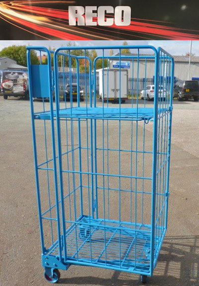 4 Sided Mesh Roll Cages with middle shelf