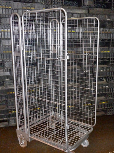 3 Sided Mesh A Frame Roll Cages Containers 4