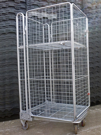 4 Sided Mesh A Frame Roll Cages Containers 6