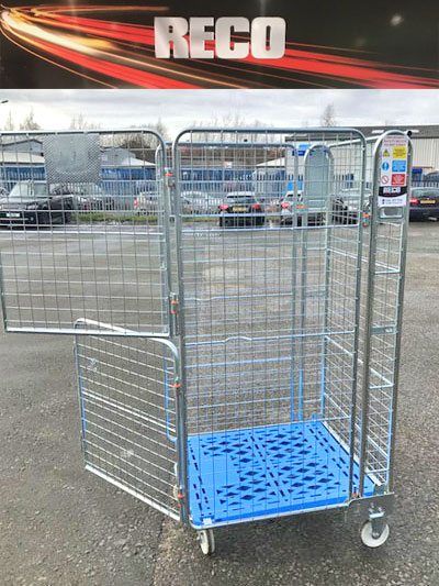 Stable Door 4 Sided Mesh Roll Cages with Plastic Base