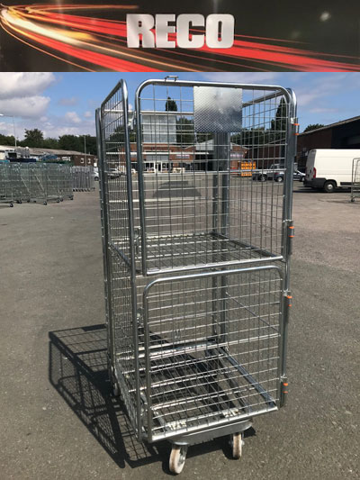 Used 4 Sided Staple Door Mesh Roll Cages