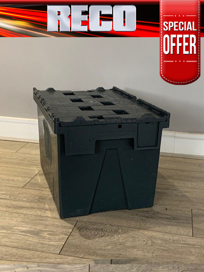 Used Black Tote Boxes For Sale