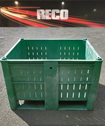 Used Vented Plastic Pallet Boxes