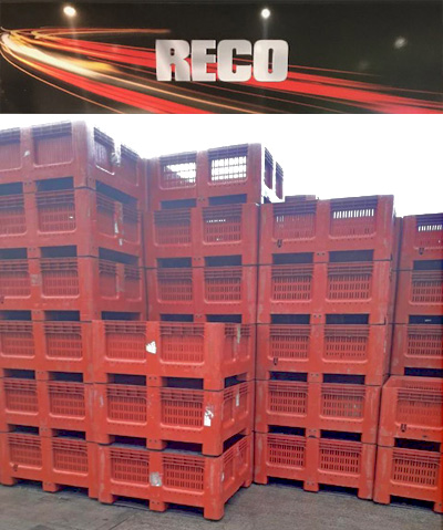 Used Vented Dolav Plastic Pallet Boxes